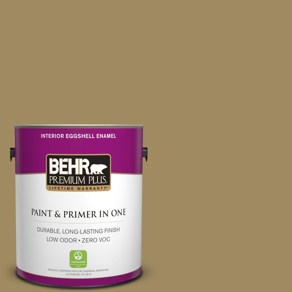 BEHR Premium Plus 1-gal. #S320-6 Garden Salt Green Eggshell Enamel Interior Paint