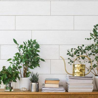 Textured Shiplap Planks Self-Adhesive Removable Wallpaper