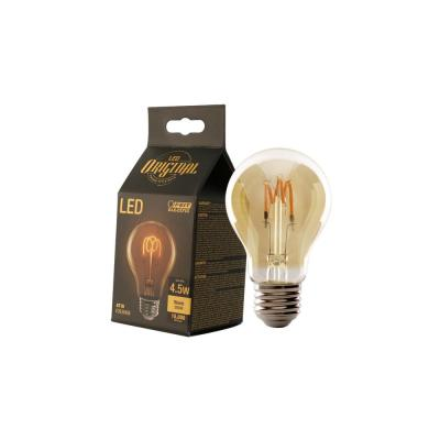 25W Equivalent AT19 Dimmable LED Amber Glass Vintage Edison Light Bulb With W-Type Filament Soft White (4-Pack)