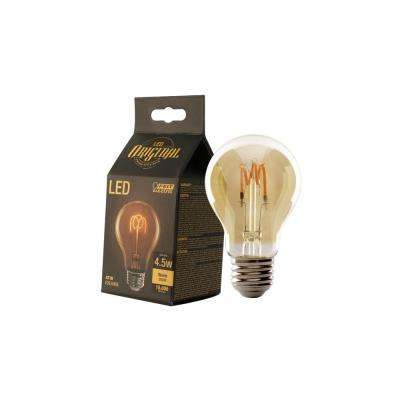 25W Equivalent Soft White AT19 Dimmable LED Antique Edison Amber Glass Filament Vintage Style Light Bulb