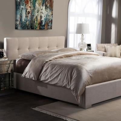 Regata Beige King Upholstered Bed