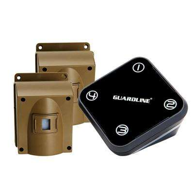 Wireless Driveway Alarm with 2-Sensor Kit