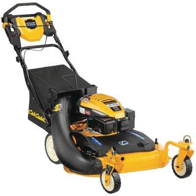 28 in. 195 cc 3-in-1 Rear Wheel Drive Gas Push Button Electric Start Walk Behind Self Propelled Lawn Mower