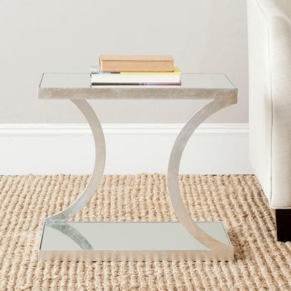 Safavieh Sullivan Silver Mirror Top End Table FOX2526A