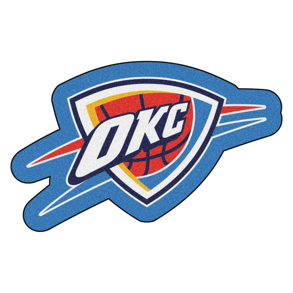 official photos 715b7 32707 FANMATS NBA - Oklahoma City Thunder Mascot Mat 36 in. x 22.3 in. Indoor  Area Rug