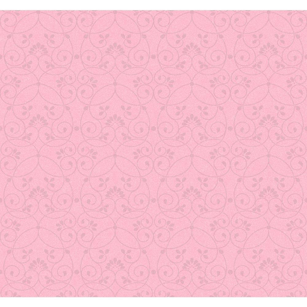 York Wallcoverings Glitter Scroll Wallpaper