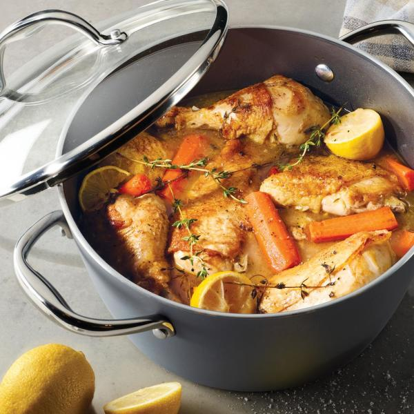 Tramontina Gourmet 5 Qt. Induction Aluminum Dutch Oven with Lid in