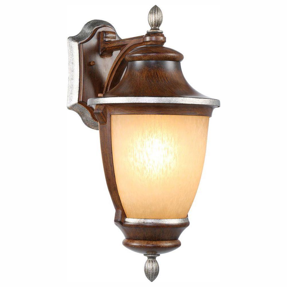 1-Light Mossoro Walnut Outdoor Wall Lantern Sconce