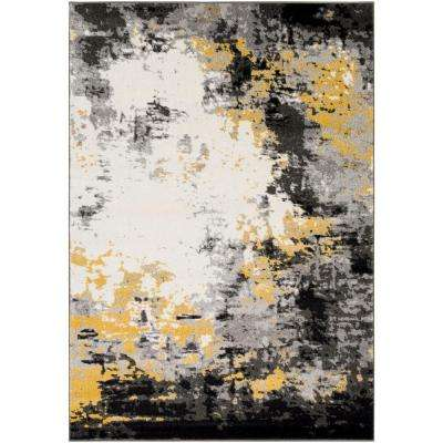 Pepin Charcoal/Mustard 2 ft. x 3 ft. Indoor Area Rug