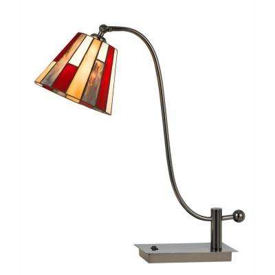24.5 in. Gun Metal Tiffany table Lamp