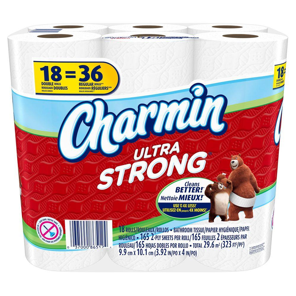 Charmin Ultra Strong Toilet Paper 18 Rolls 003700087841