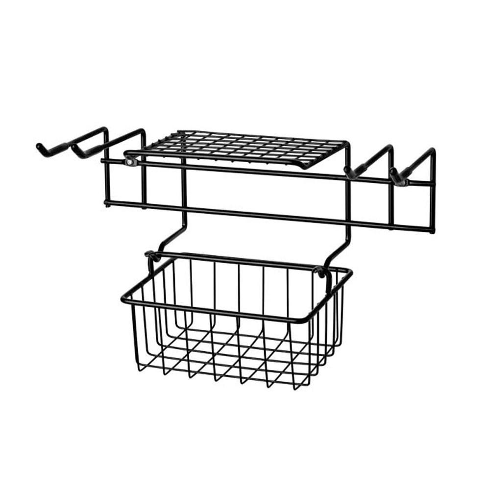 Racor 20-1/4 in. Garden Tool Rack with Removable Basket-DISCONTINUED