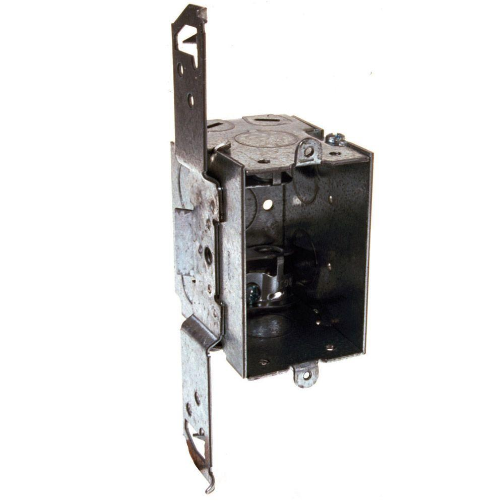 2-3/4 in. Deep Switch Box, Gangable with Armored Cable/Metal Clad/Flex Clamps