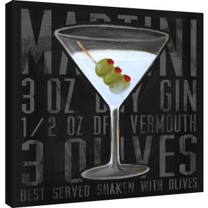 15 In X 15 In Martini Square Printed Canvas Wall Art