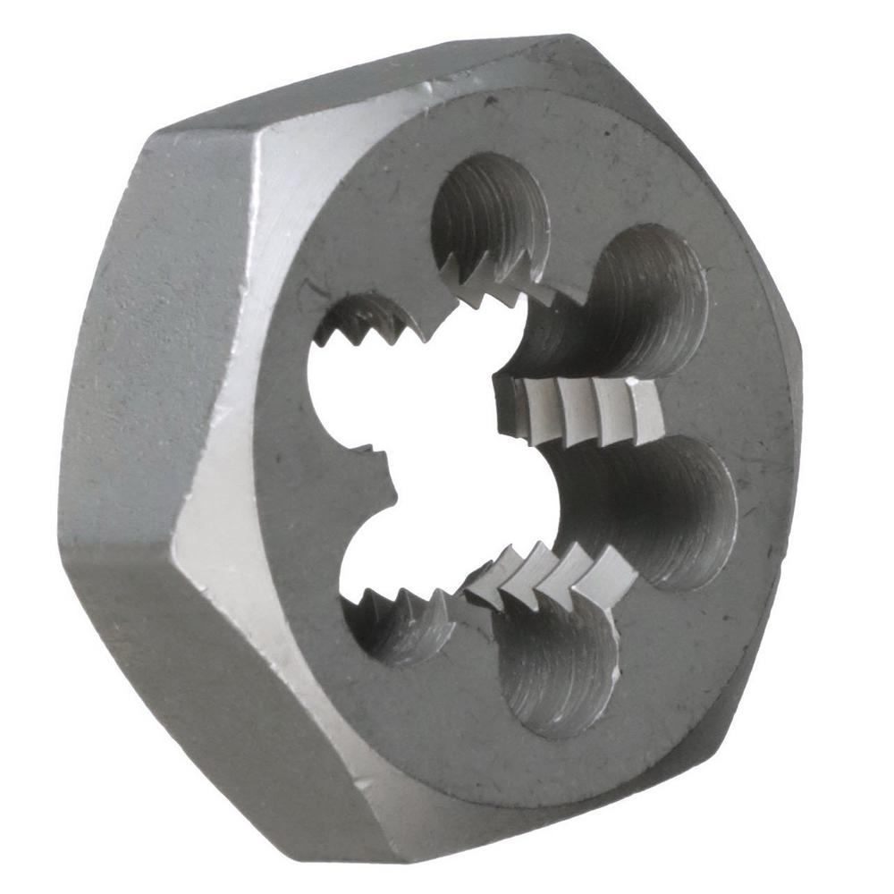 Carbon Steel 8mm x .75 Metric Hex Rethreading Die