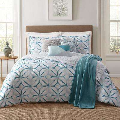 Lancaster 7-Piece White King Comforter Set