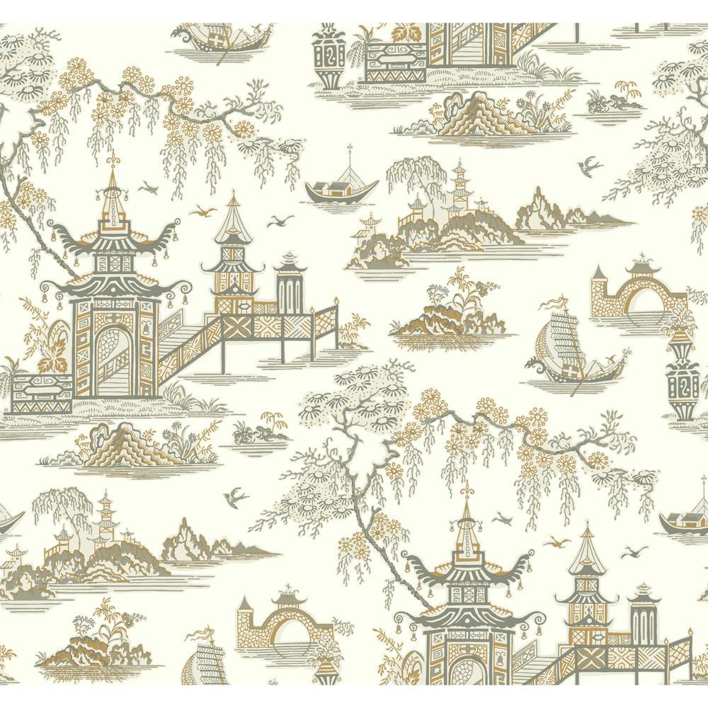 York Wallcoverings Waverly Classics Ii Peaceful Temple