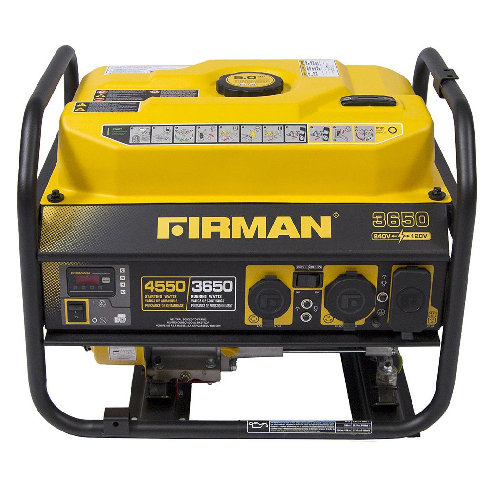3650/4550-Watt Gas Powered Portable Generator