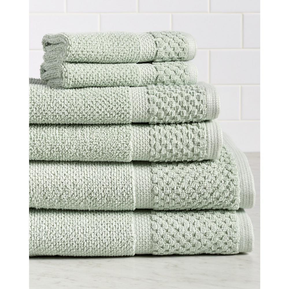Diplomat 6-Piece 100% Cotton Bath Towel Set in Pacific