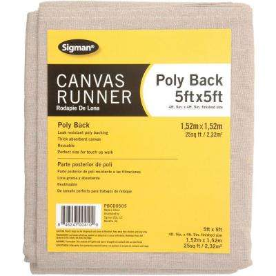 4 ft. 9 in. x 4 ft. 9 in. Poly Back Canvas Drop Cloth Runner