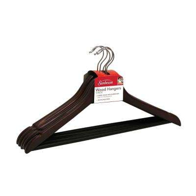 Cherry Non-Slip Wood Hanger (5-Pack)