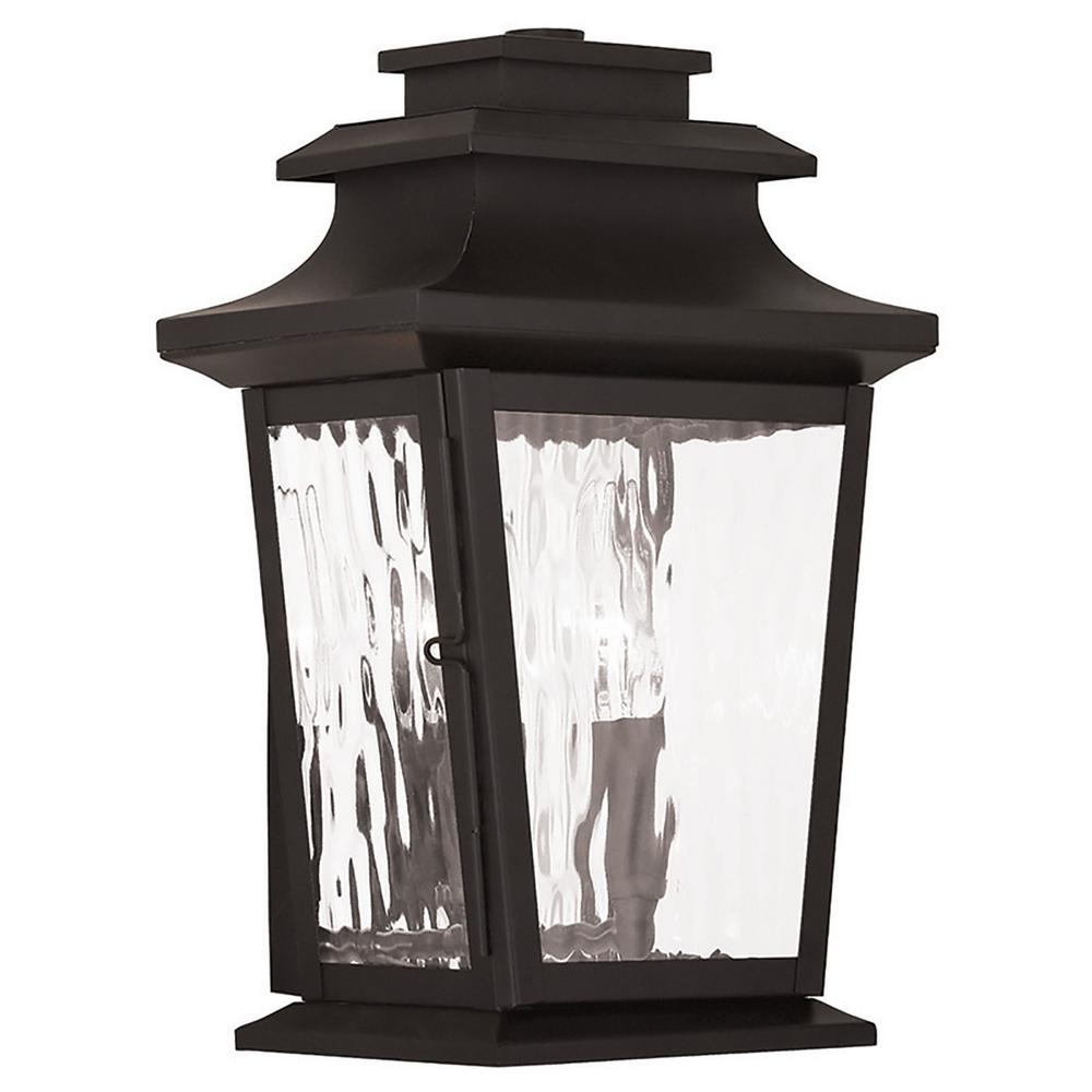 Hathaway 2-Light Bronze Outdoor Wall Mount Lantern