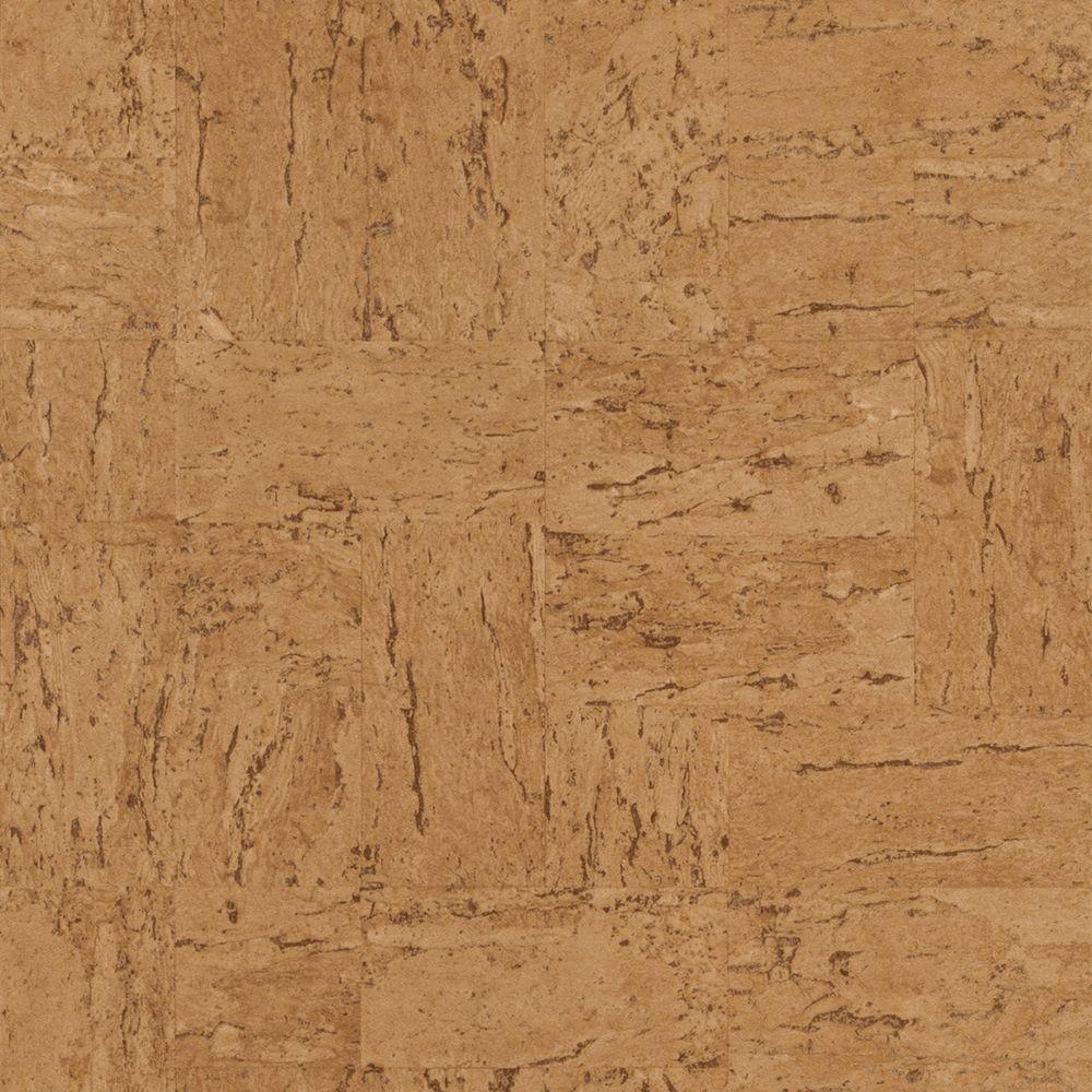 Deep Toned Tan Natural Faux Cork Vinyl Wallpaper