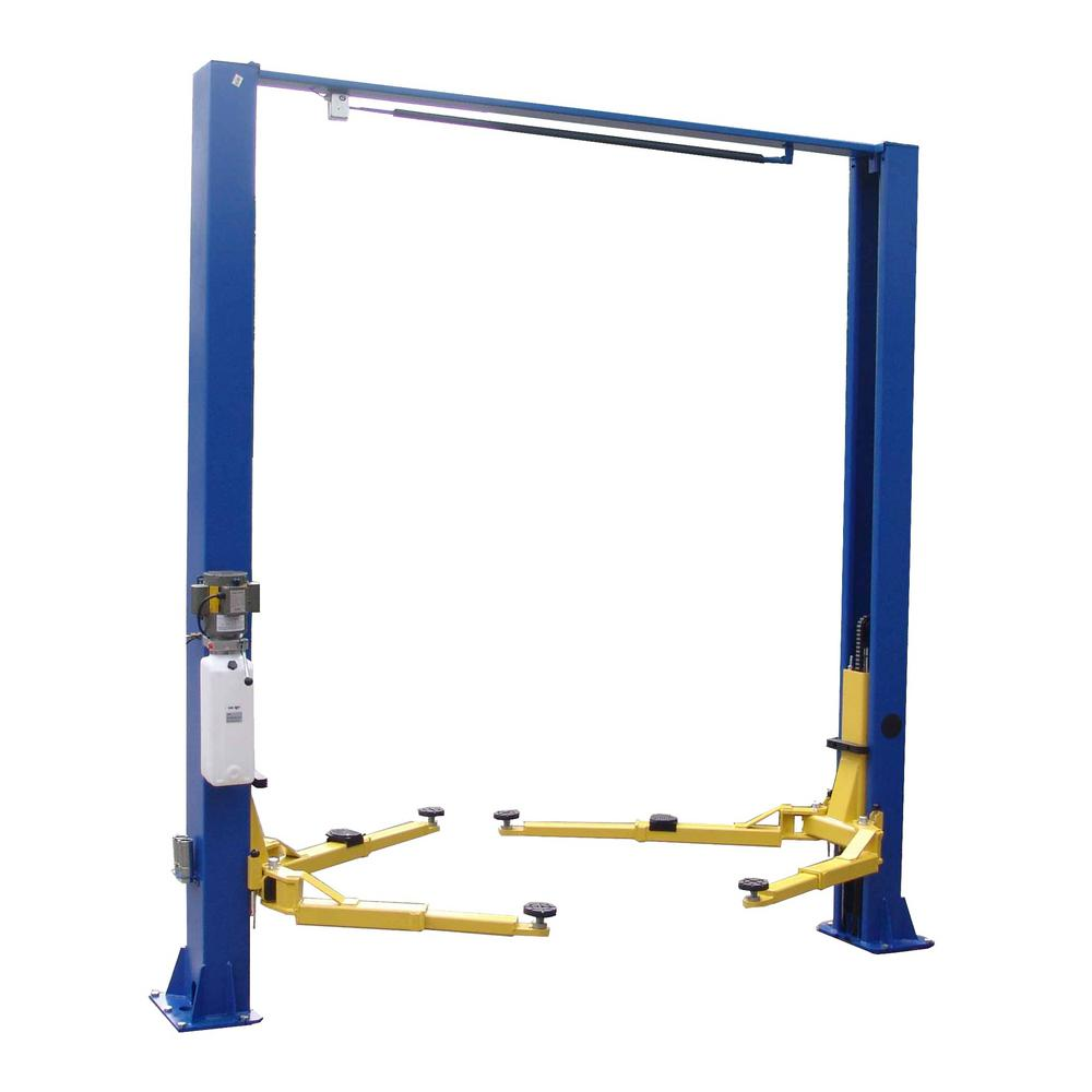 TUXEDO Asymmetric 2-Post Lift Clear Floor 9,000 lbs. Capacity in  Blue-TP9KACX - The Home Depot | Tuxedo Car Lift Wiring Diagram |  | The Home Depot