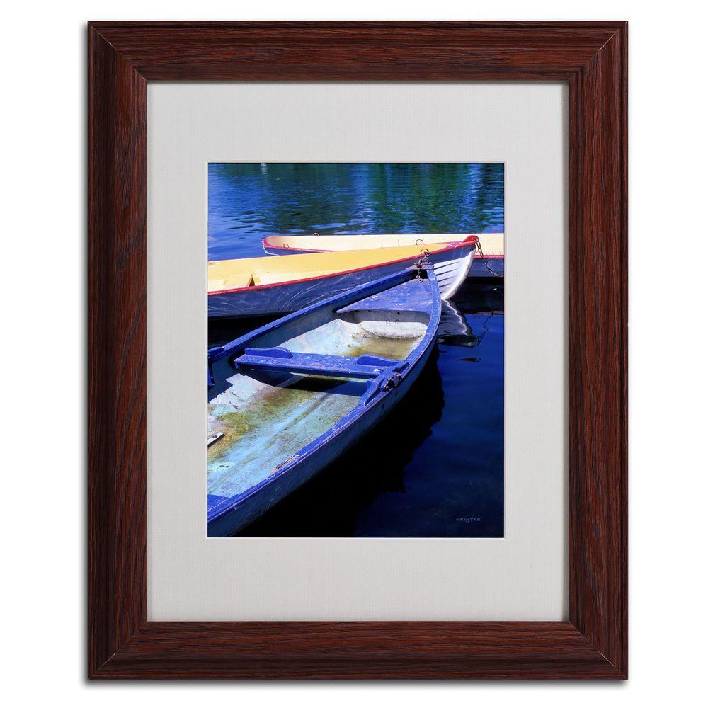 11 in. x 14 in. Bois De Boulogne Boats Matted Framed