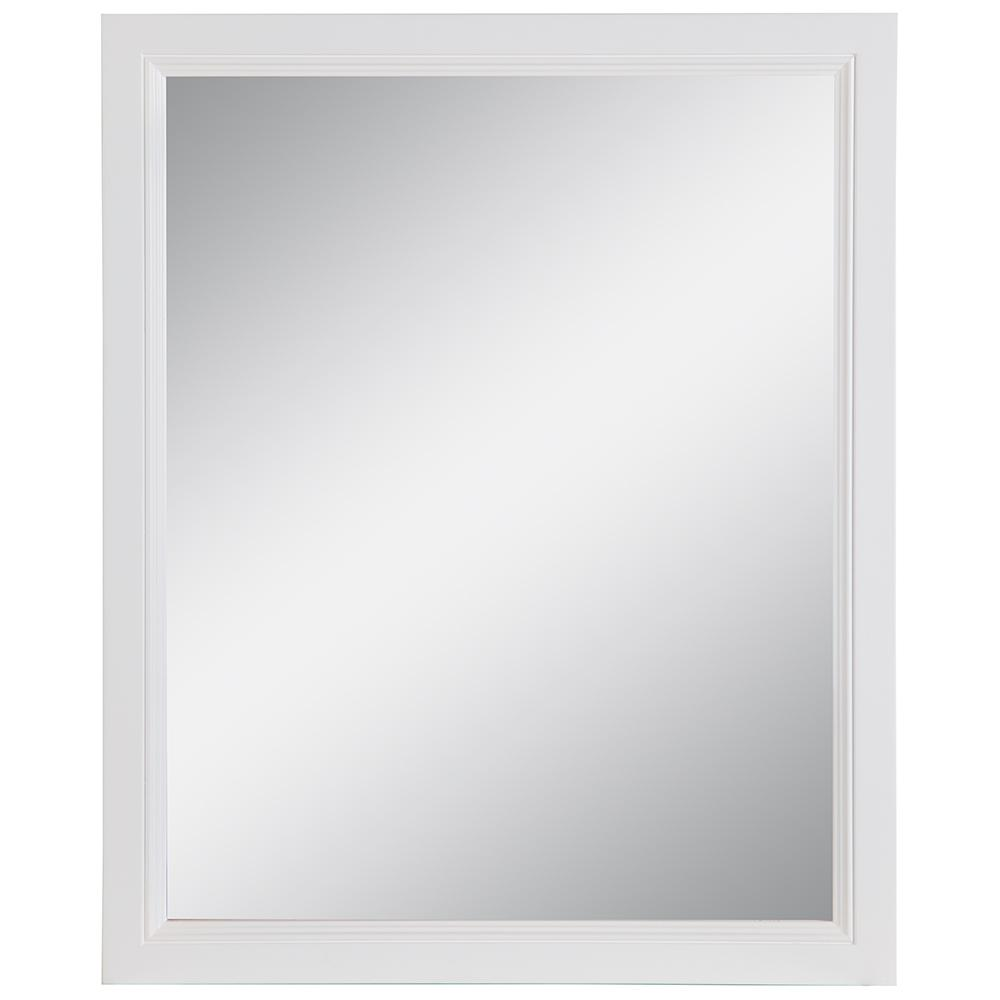 Home Decorators Collection Teasian 25.67 in. W x 31.38 in. H Framed Wall Mirror in White