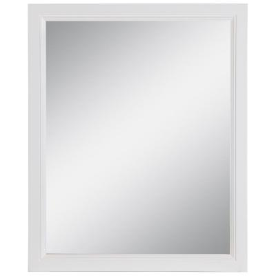 Teasian 25.67 in. W x 31.38 in. H Framed Wall Mirror in White