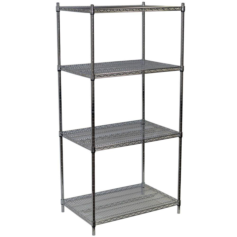 Storage concepts 86 in h x 36 in w x 18 in d 4 shelf for Chrome bathroom shelving unit