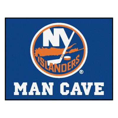 New York Islanders Blue Man Cave 3 ft. x 4 ft. Area Rug