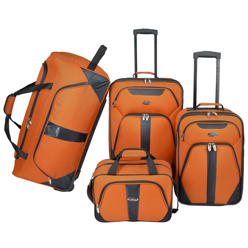 4-Piece Luggage Set, Orange