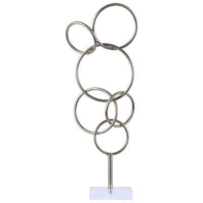21.00 in. H Sculpture Decorative Sculpture in Silver Metallic