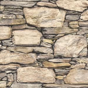 Nuwallpaper Brown Hadrian Stone Wall Peel And Stick