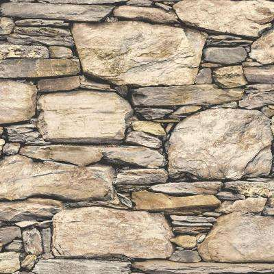 Hadrian Stone Wall Peel and Stick Vinyl Strippable Wallpaper (Covers 30.75 sq. ft.)