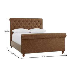 Brilliant Home Decorators Collection Fenmore Tobacco Tufted Caraccident5 Cool Chair Designs And Ideas Caraccident5Info