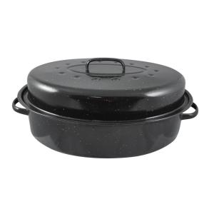 Click here to buy HOME basics 10.37 inch x 15 inch Enamel Roaster by HOME basics.