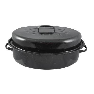 10.37 in. x 15 in. Enamel Roaster