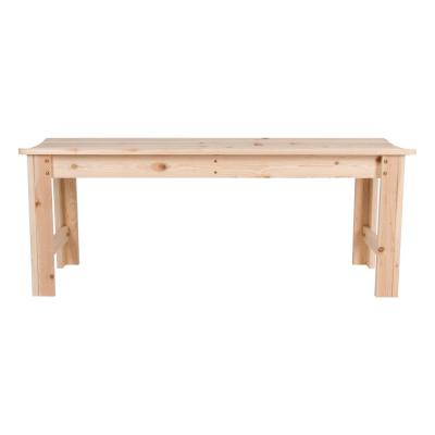 4 ft. Backless Wood Outdoor Garden Bench in Natural