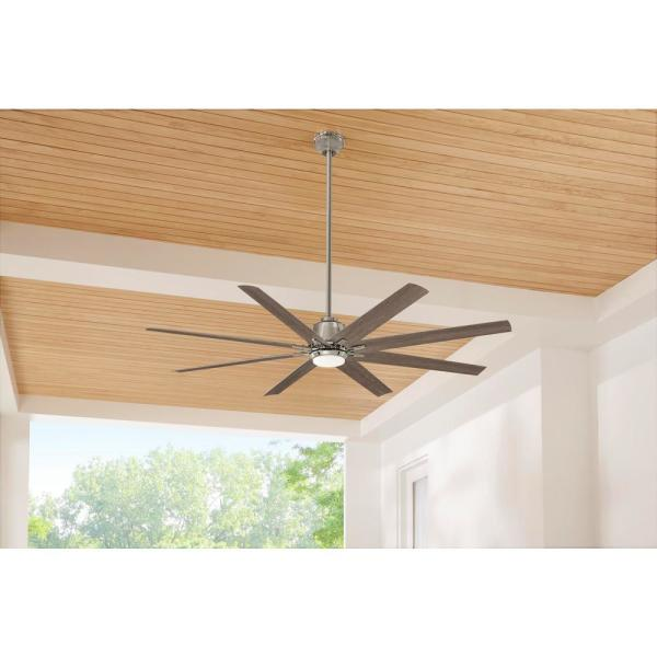 Home Decorators Collection Kensgrove 72 In Led Indoor Outdoor Polished Nickel Ceiling Fan With Remote Control Yg493od Pn The Home Depot