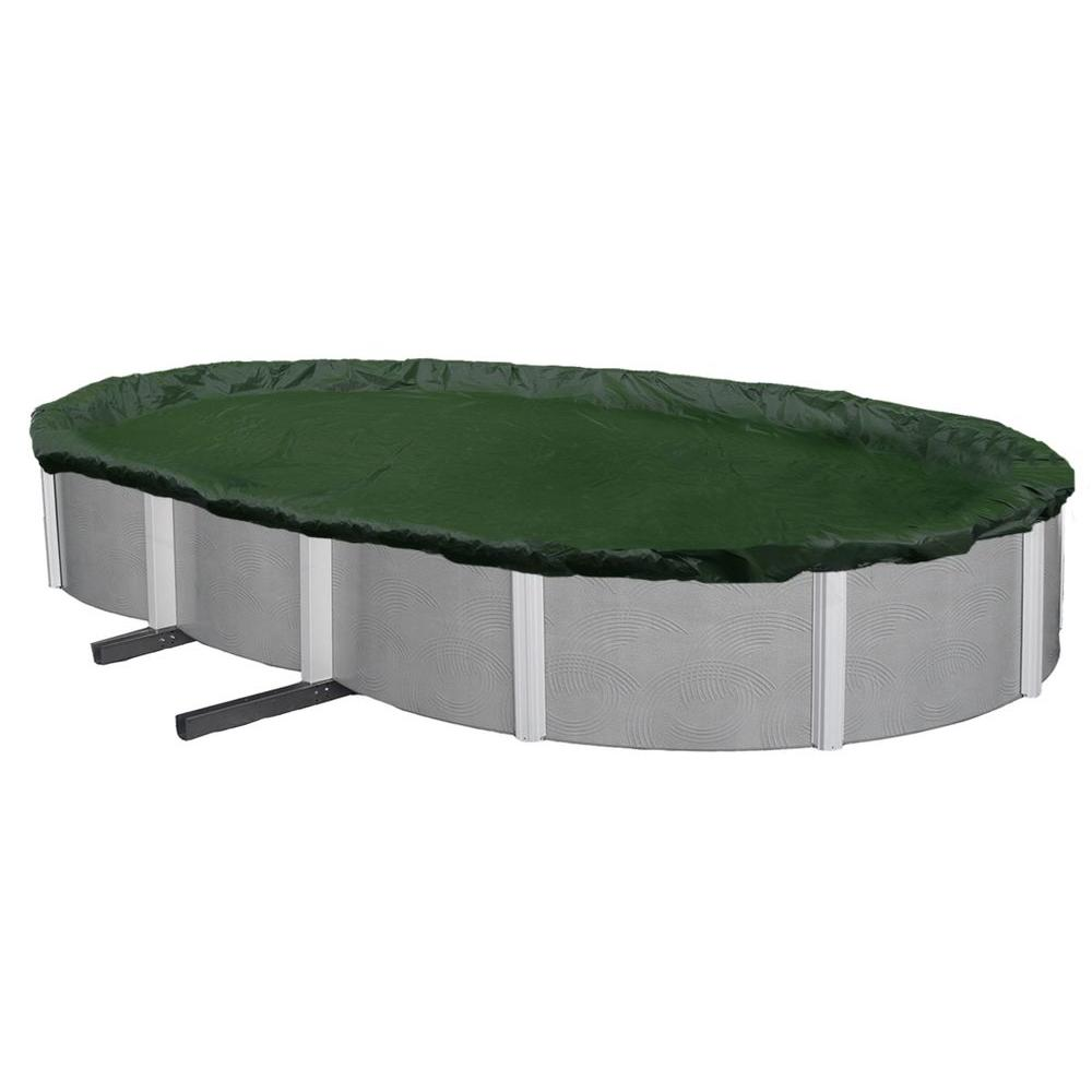 12-Year 12 ft. x 24 ft. Oval Forest Green Above Ground