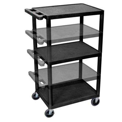 LP Multi Height 24 in. A/V Cart in Black