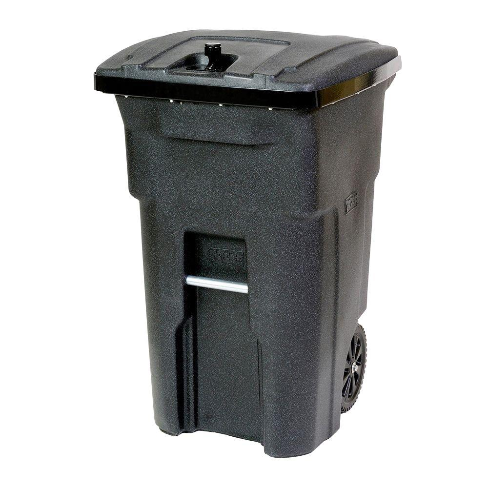 Toter 64 Gal Red Wheeled Regulated Medical Waste Trash Can with Casters Indoor
