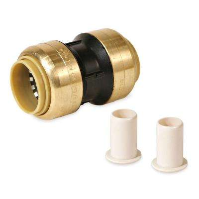 1 in. Polysulfone CTS Glueless Quick Connect Coupling Push for PEX CPVC Copper