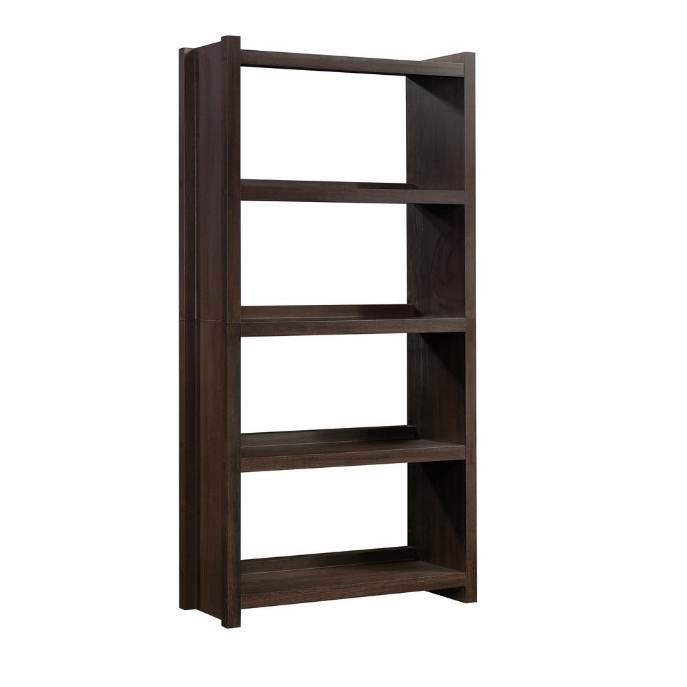 HomeVisions Dakota Oak 4-Shelf Open Bookcase