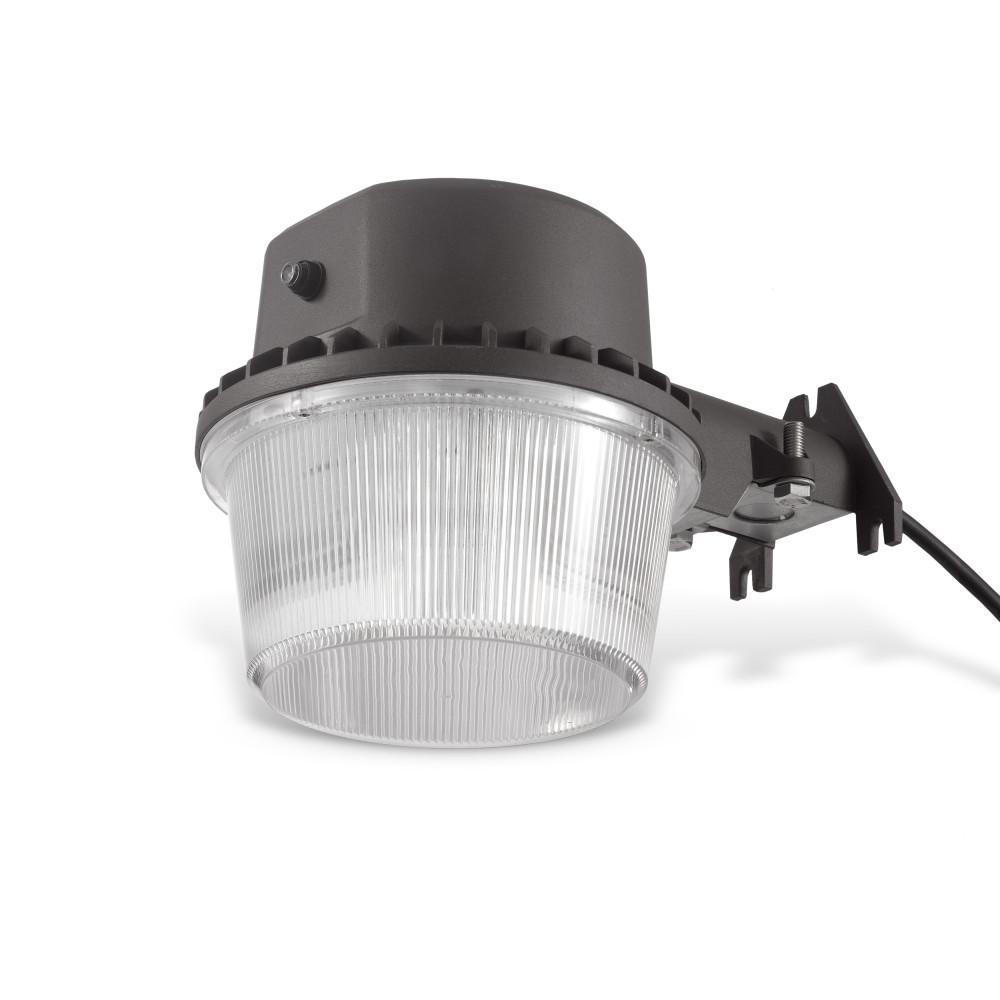 Dusk-To-Dawn Barn Light 35-Watt 360° Black Outdoor Integrated LED Flood Light