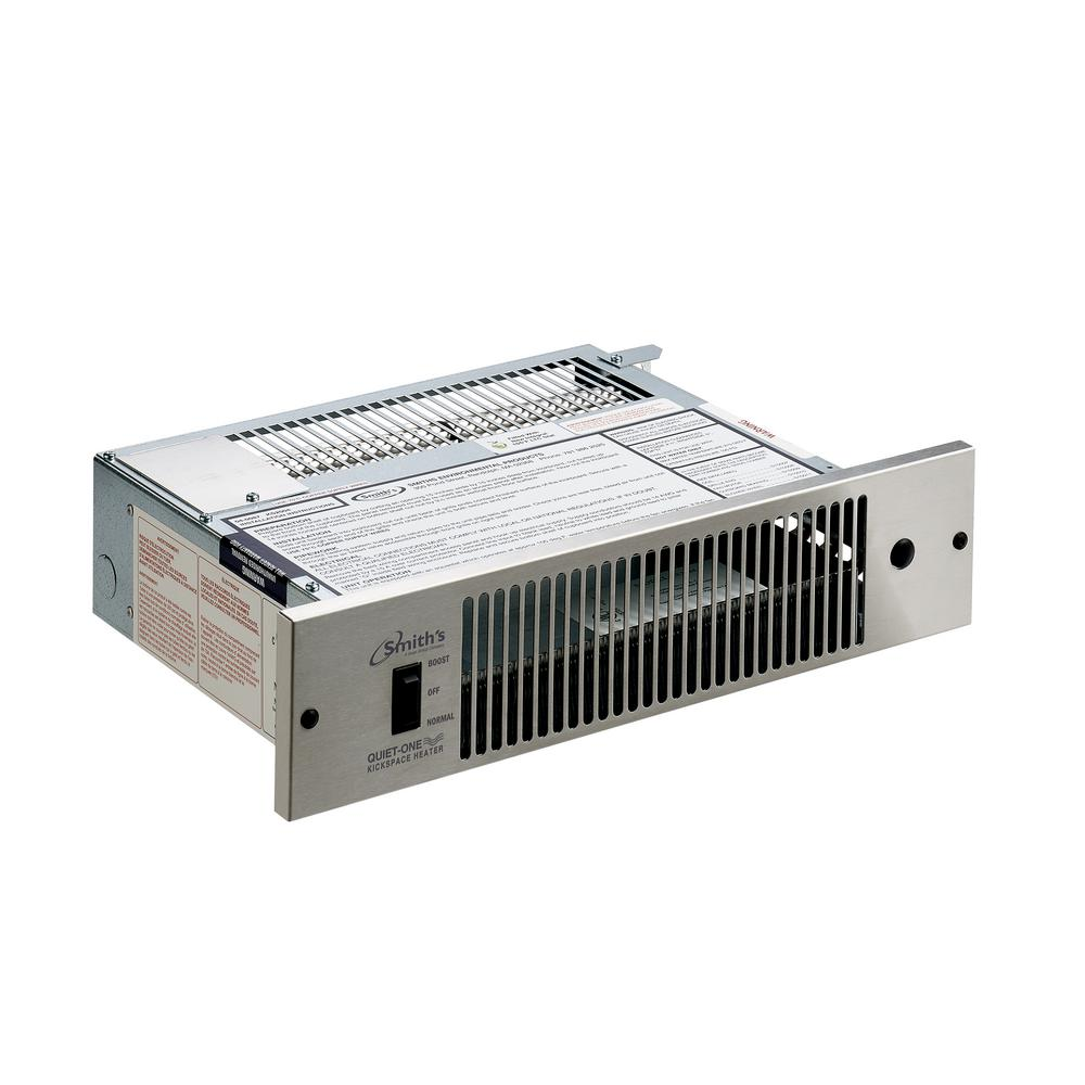 Quiet-One Quiet-One 2000 Series 4,000 BTU Hydronic Kickspace Heater in Stainless Steel (Not Electric), Silver