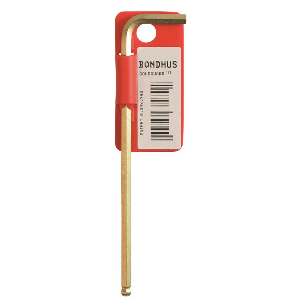 Bondhus 14 mm Ball End Long Arm L-Wrench with GoldGuard T...
